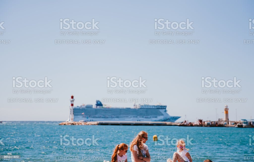 Cannes Port royalty-free stock photo