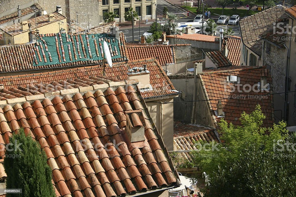 Cannes roofs royalty-free stock photo