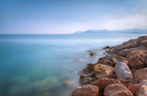 Cannes Seascape Long Exposure HDR stock photo