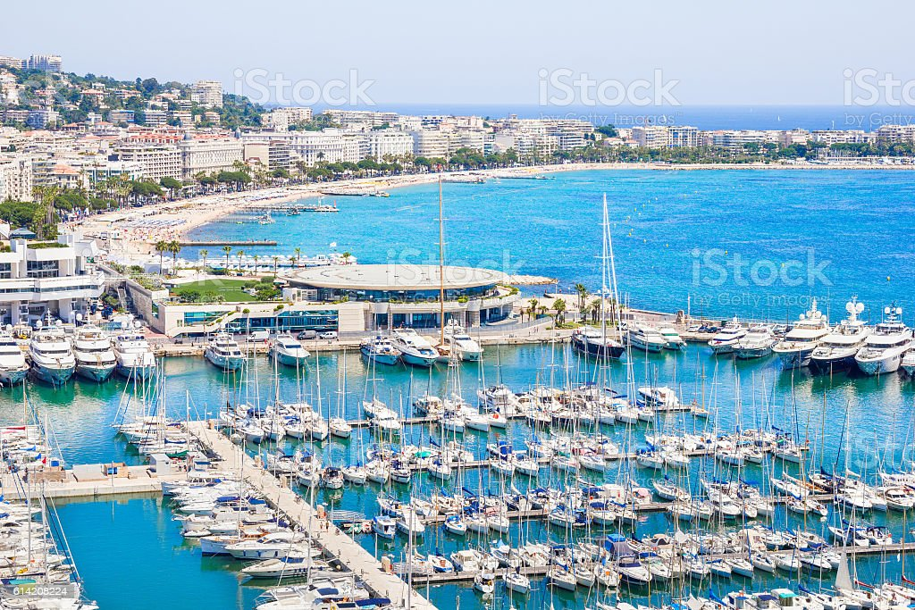 Cannes, south of France stock photo