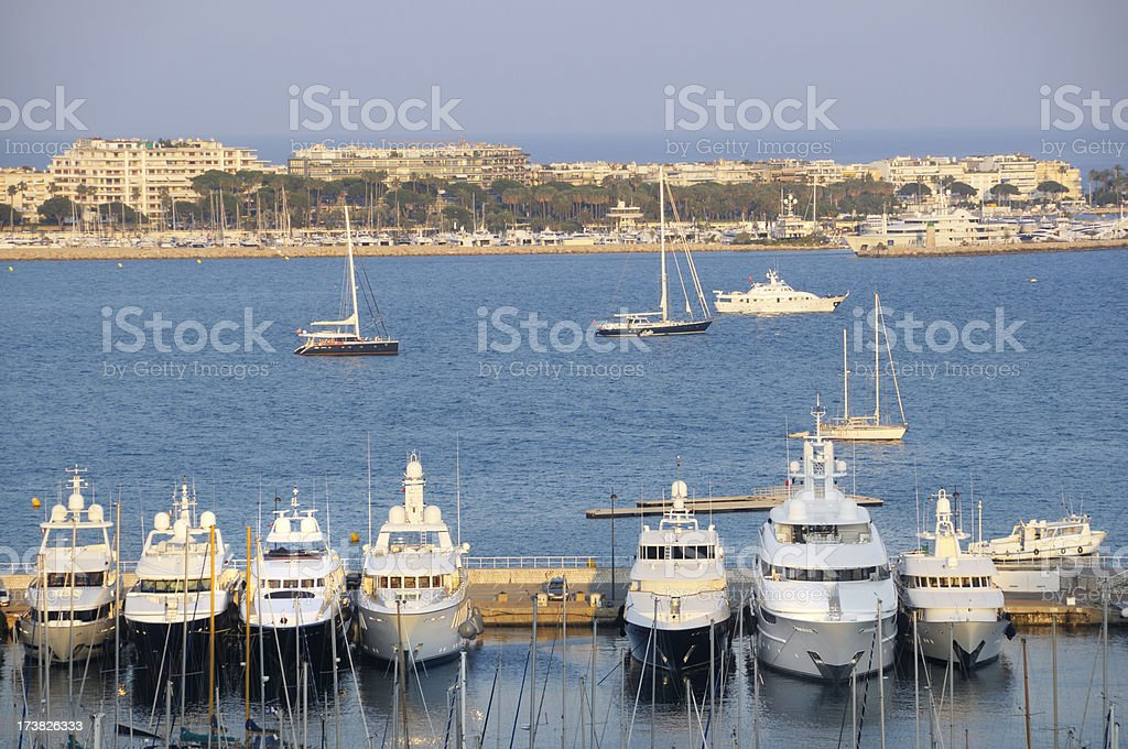 Cannes - view over the harbor royalty-free stock photo