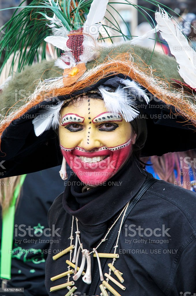 Cannibal at Carnival stock photo