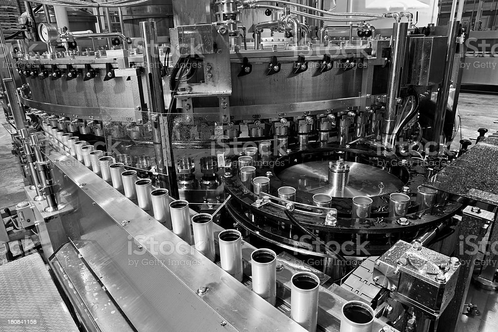 Canning production stock photo