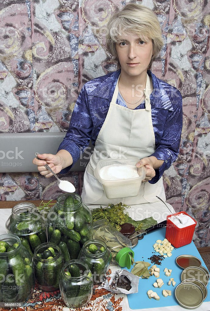 Canning vegetables royalty-free stock photo