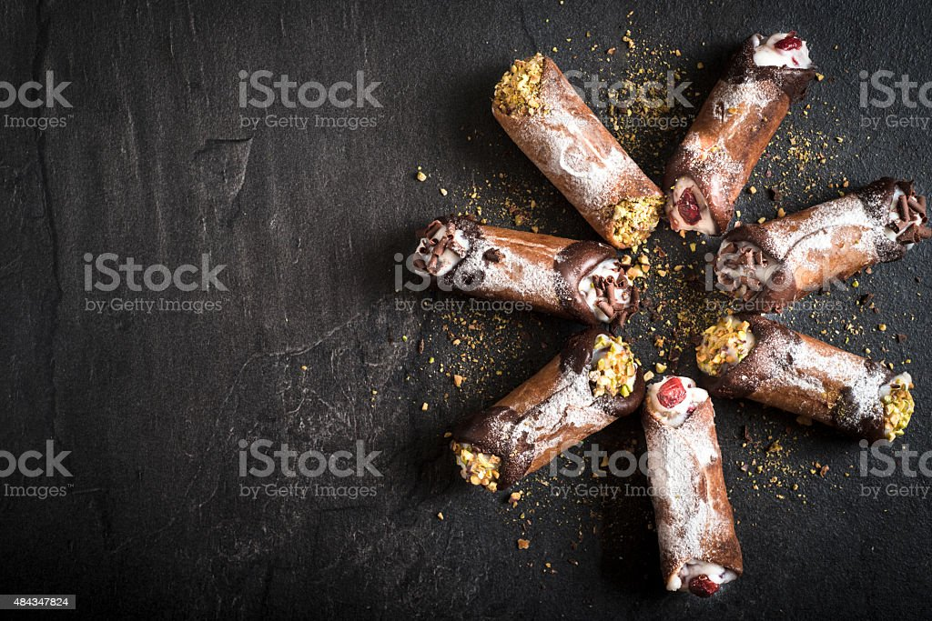 Cannoli time stock photo