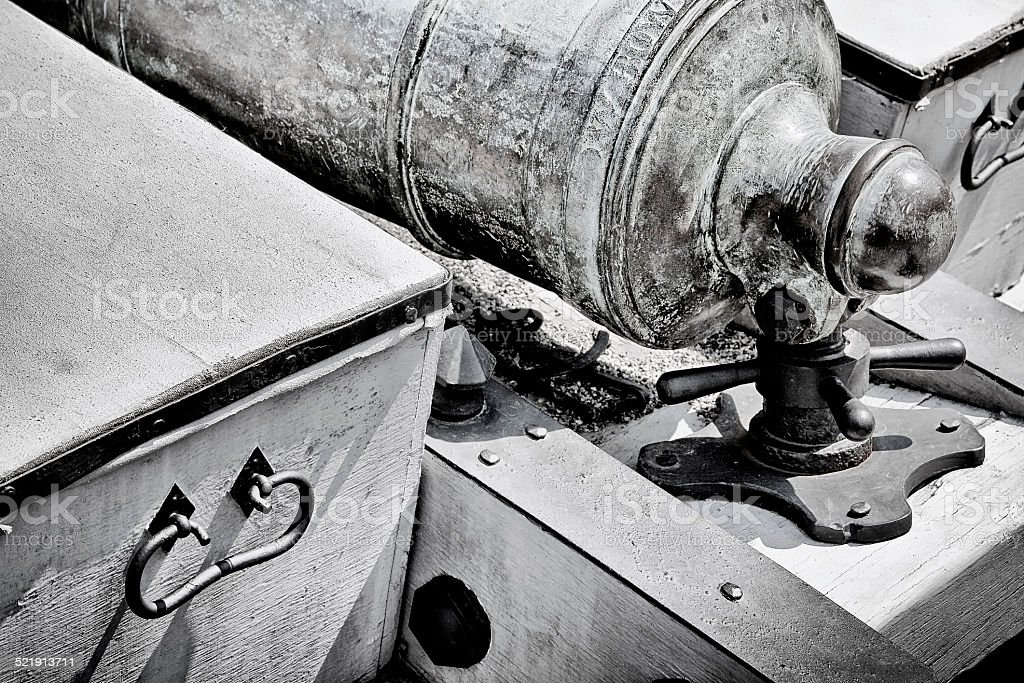 Cannon and Caisson stock photo