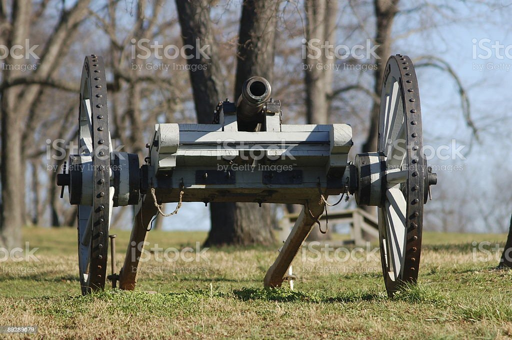 Cannon at Brandywine Battlefield stock photo