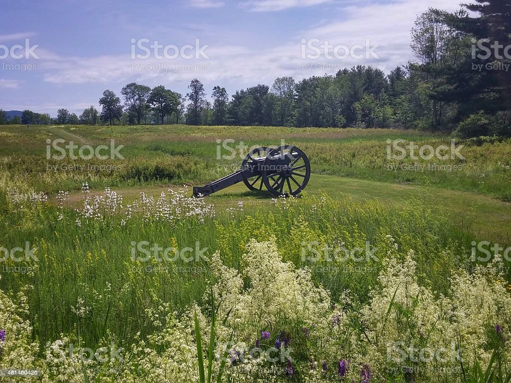 Cannon at Freeman Farm, Saratoga Historical Park Battlefield, New York - Royalty-free 2015 Stock Photo