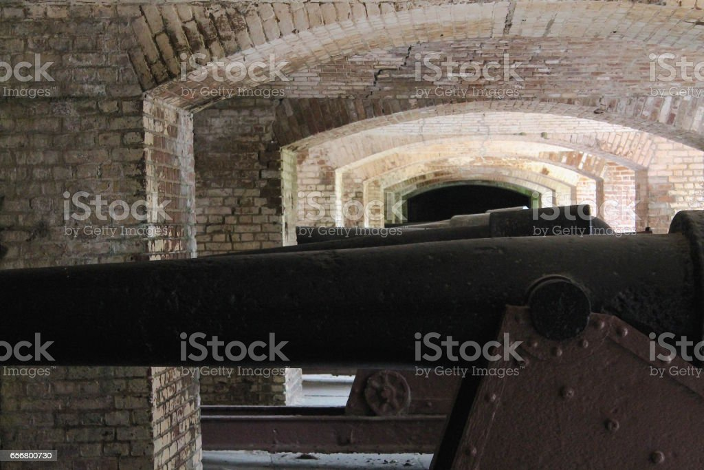Cannon at Ft. Sumter stock photo