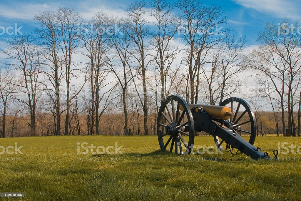 Cannon at Monocacy National Battlefield royalty-free stock photo