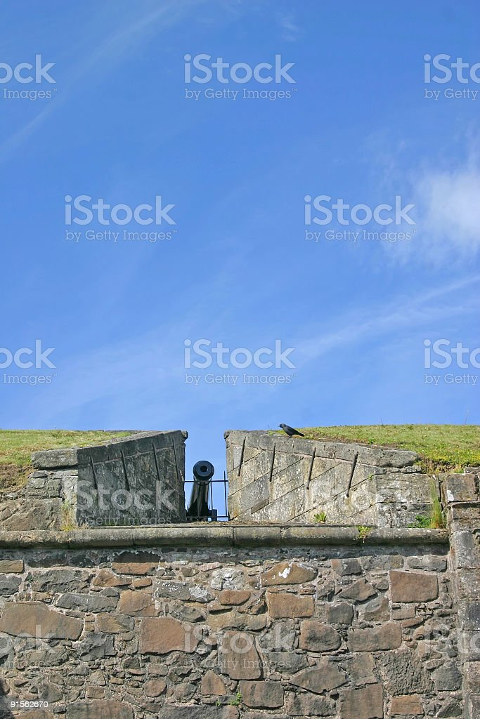 Cannon at Stirling Castle in Scotland royalty-free stock photo