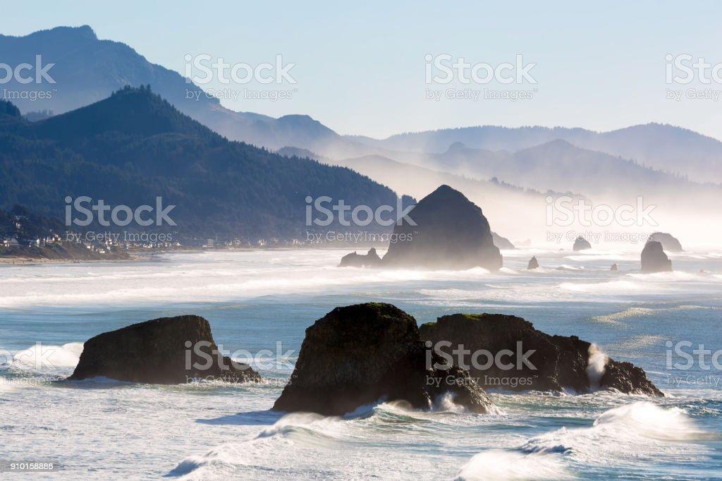 Cannon Beach, Oregon Küste im Pazifischen Ozean – Foto