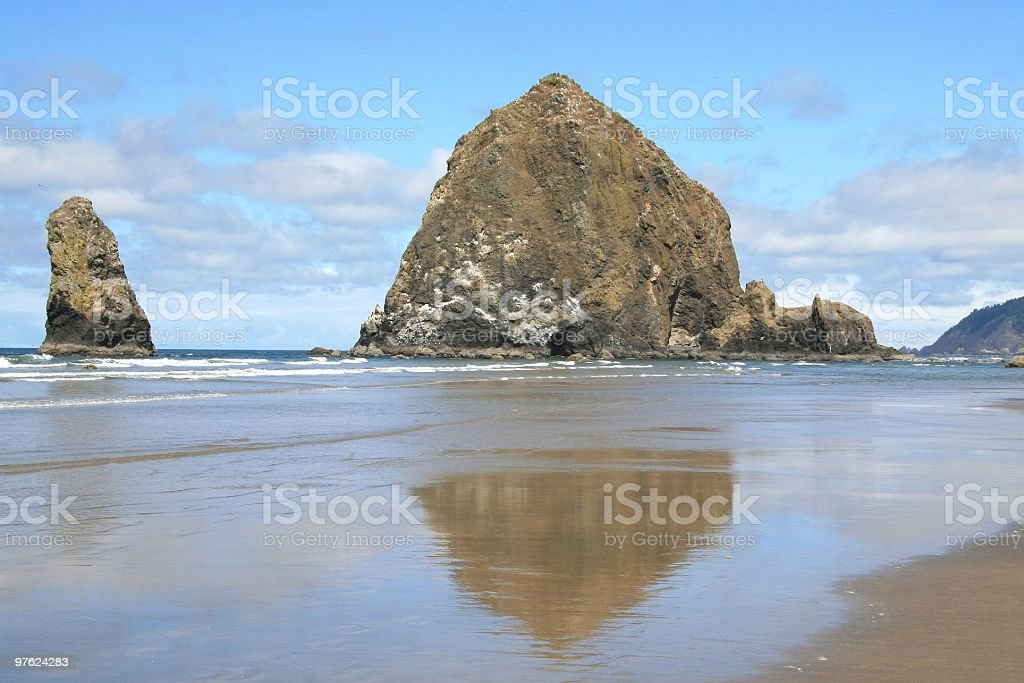 Cannon Beach and Haystack Rock, Oregon, Pacific Northwest, USA royalty-free stock photo