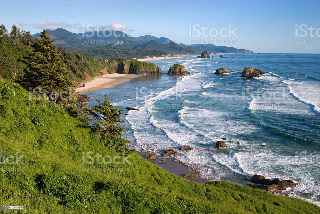 Cannon Beach Oregon stock photo