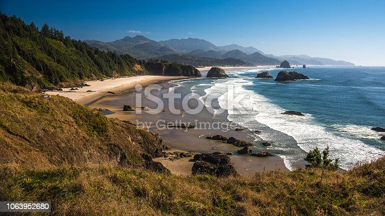 Cannon Beach, Oregon from Ecola State Park