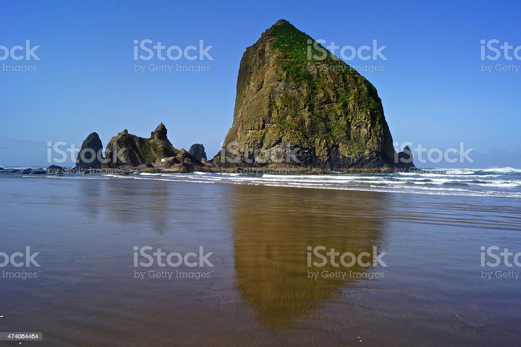 Cannon Beach Stone stock photo