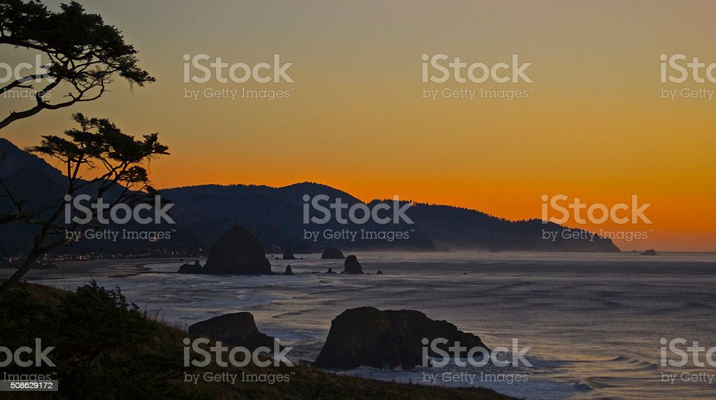 Cannon Beach Sunset stock photo