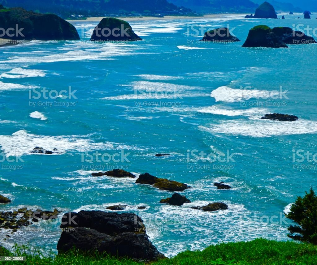 Cannon Beach Turquoise stock photo