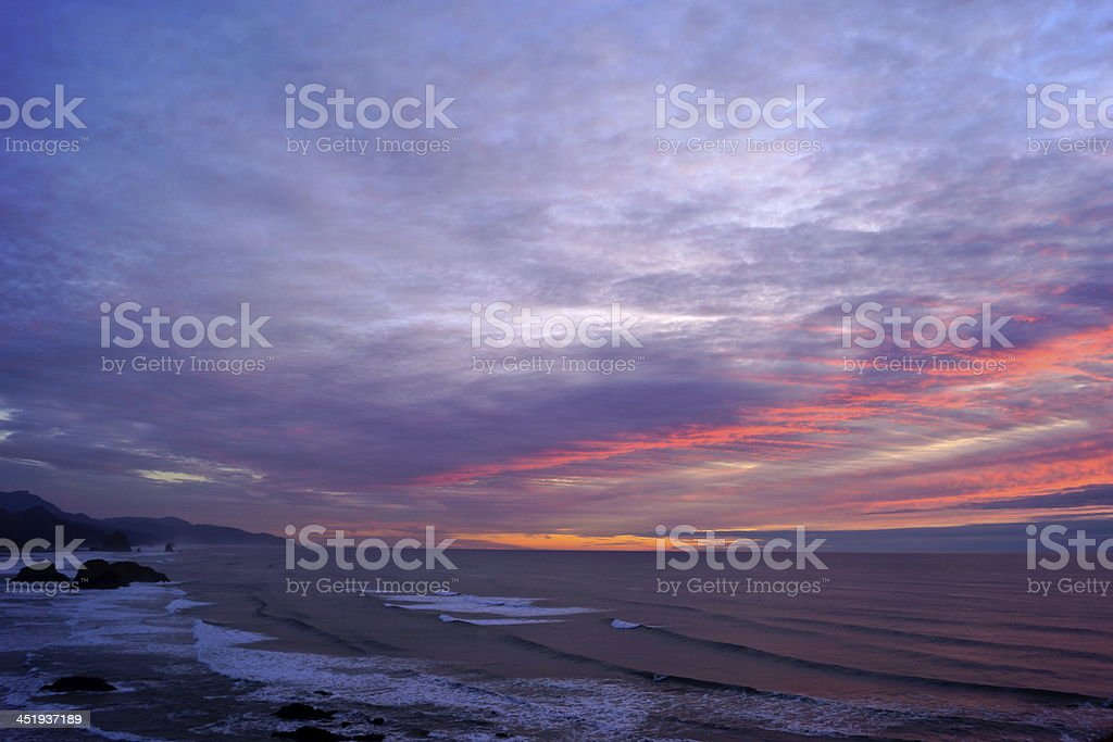 Cannon Beach Twilight stock photo