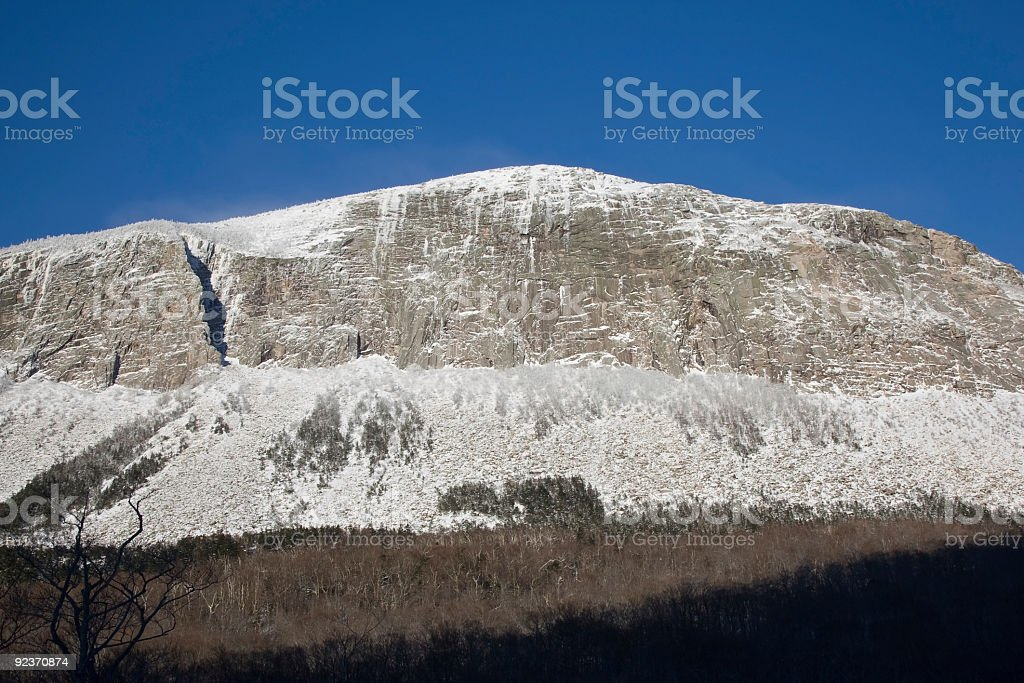 Cannon Cliff -Franconia Notch State Park, New Hampshire royalty-free stock photo