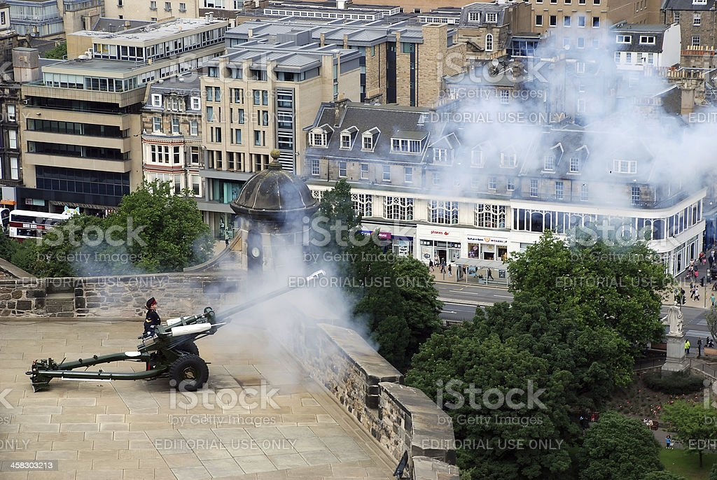 Cannon Firing royalty-free stock photo