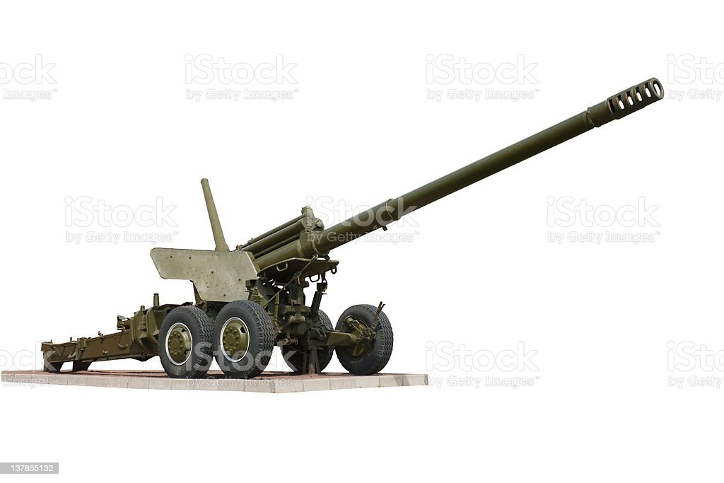 cannon from World war 2 stock photo