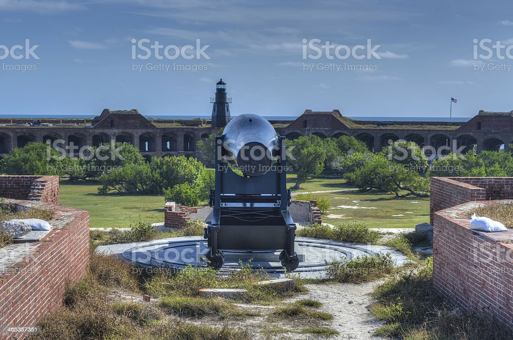 Cannon in Fort Jefferson, Florida stock photo