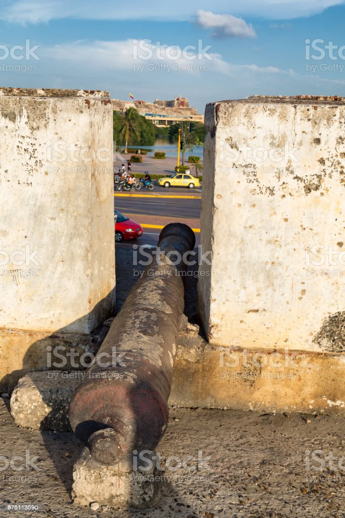 Cannon in the afternoon stock photo