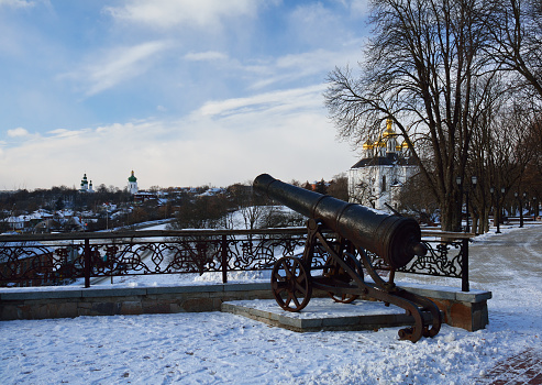 istock cannon in winter park facing the church 497064918