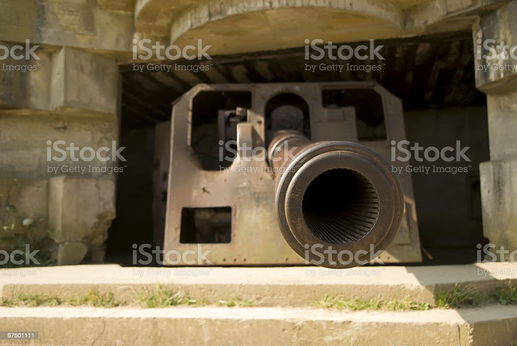 Cannon of the Second World War royalty-free stock photo