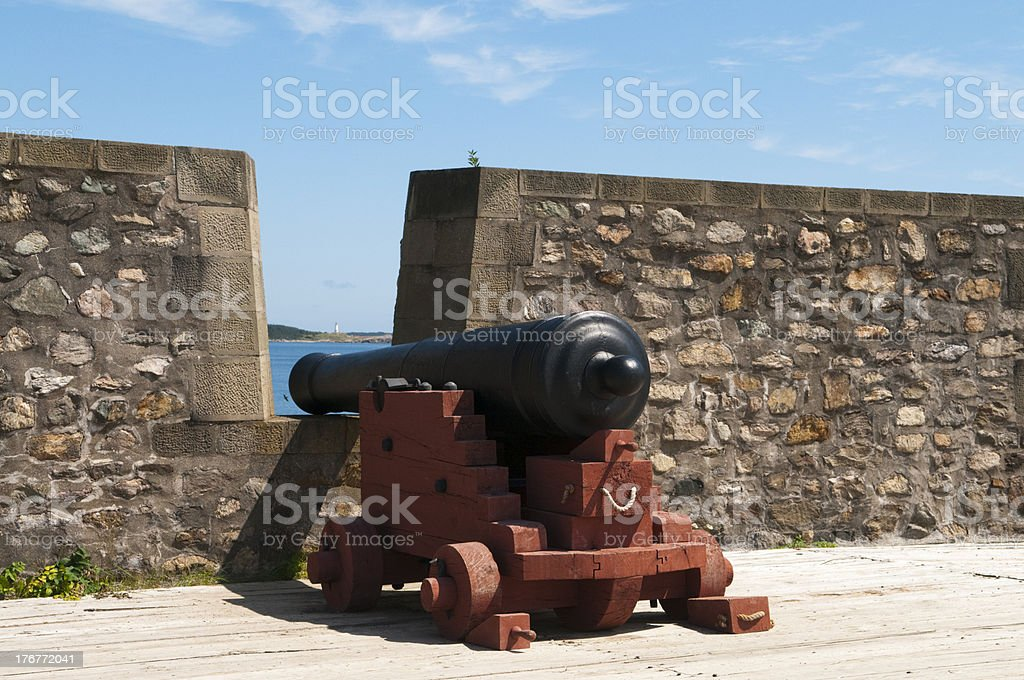 Cannon on Harbor royalty-free stock photo