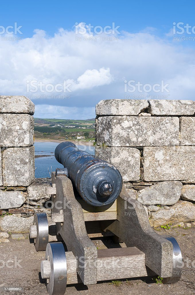 Cannon On Top Of A Castle Fort royalty-free stock photo