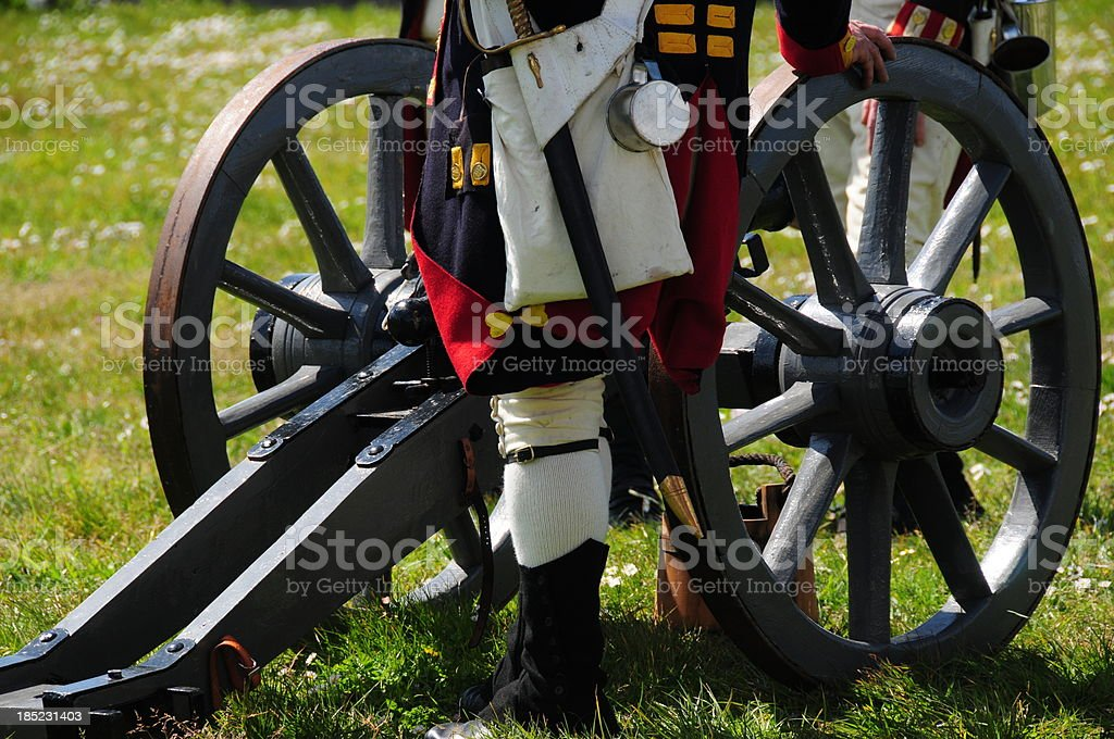 Cannon re-enactment, Jersey. stock photo