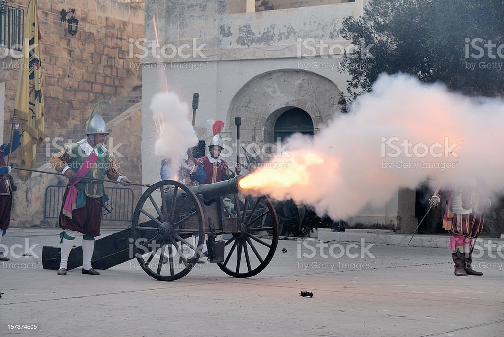 cannon shot stock photo