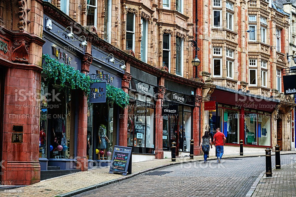 Cannon Street in Birmingham, England stock photo