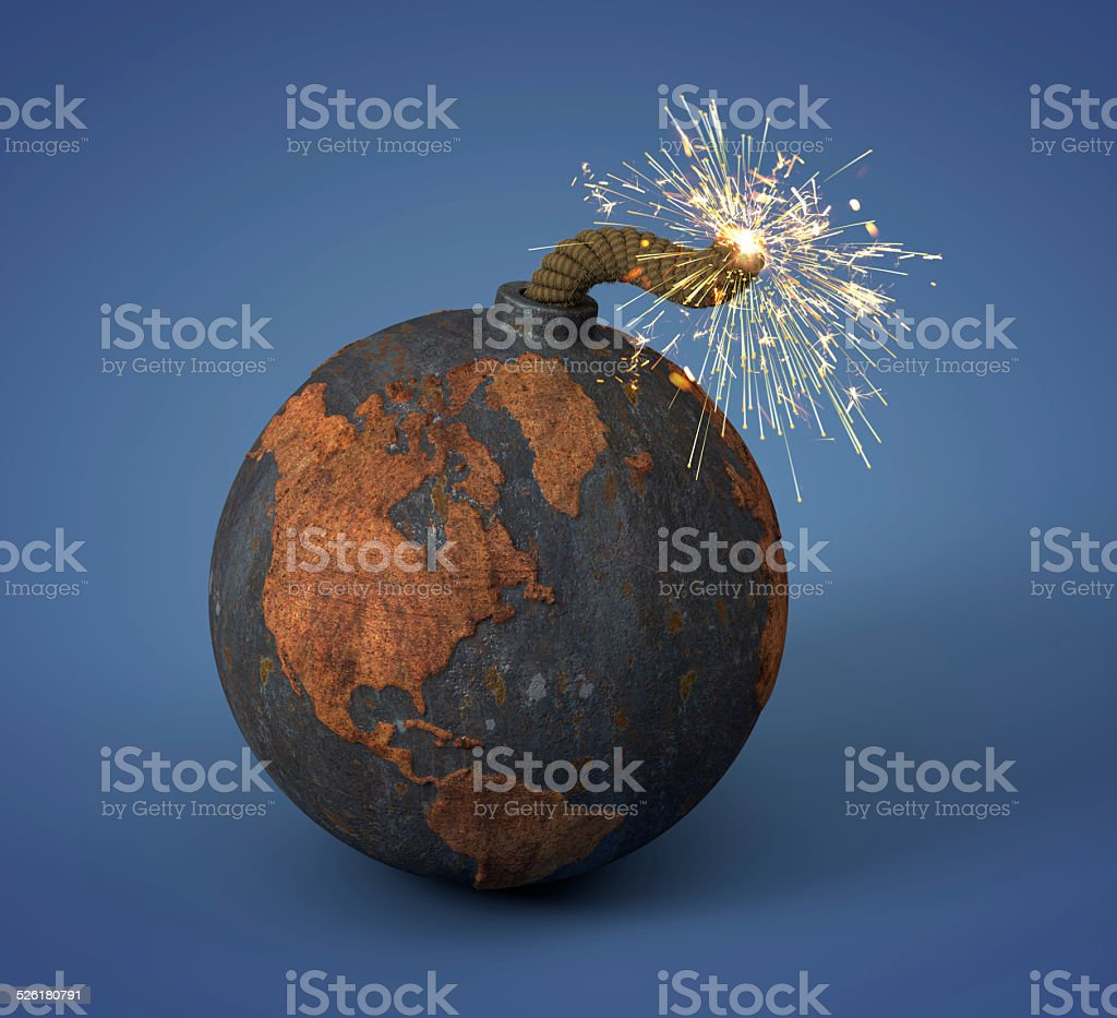 cannonball as the Earth stock photo