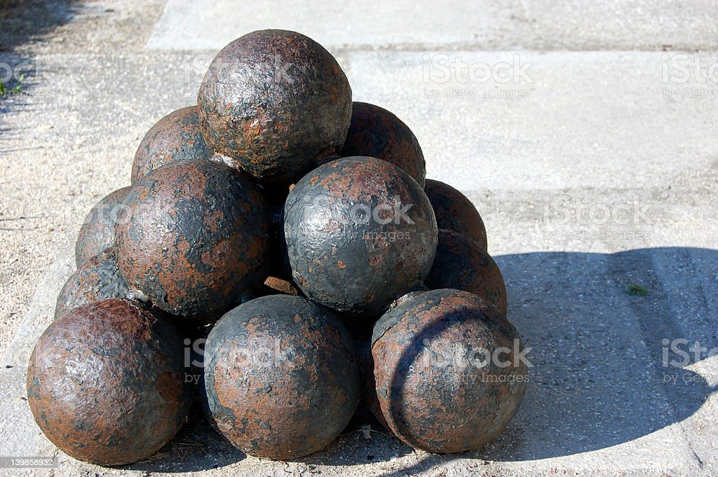 Cannonballs royalty-free stock photo