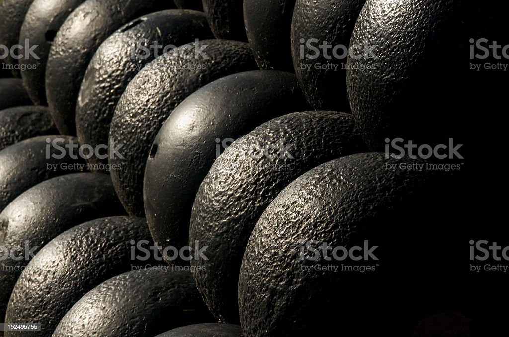 Cannonballs stock photo