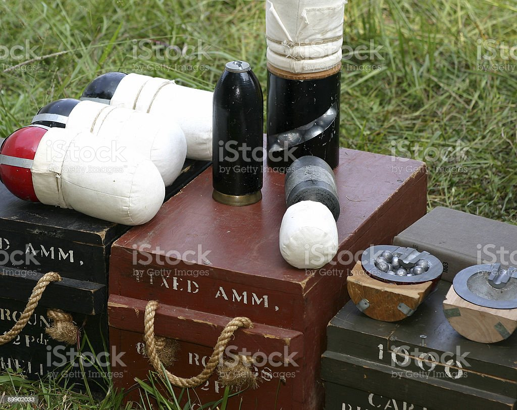 Cannonballs royalty-free stock photo