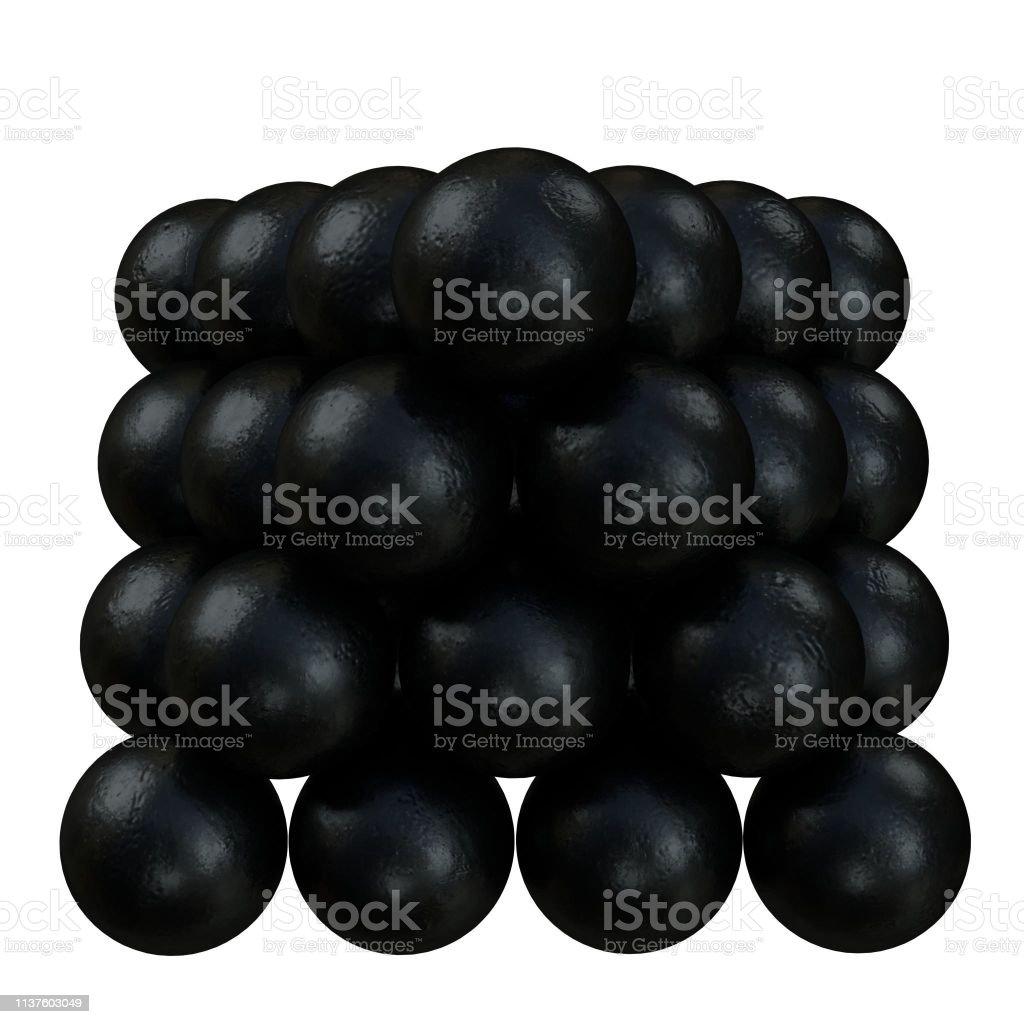 Cannonballs stack 1 - foto stock