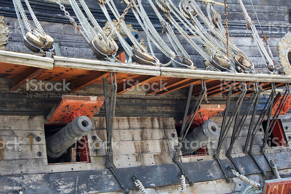 Cannons and Ropes stock photo