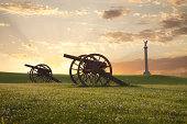 istock Cannons at Antietam (Sharpsburg) Battlefield in Maryland 163304352