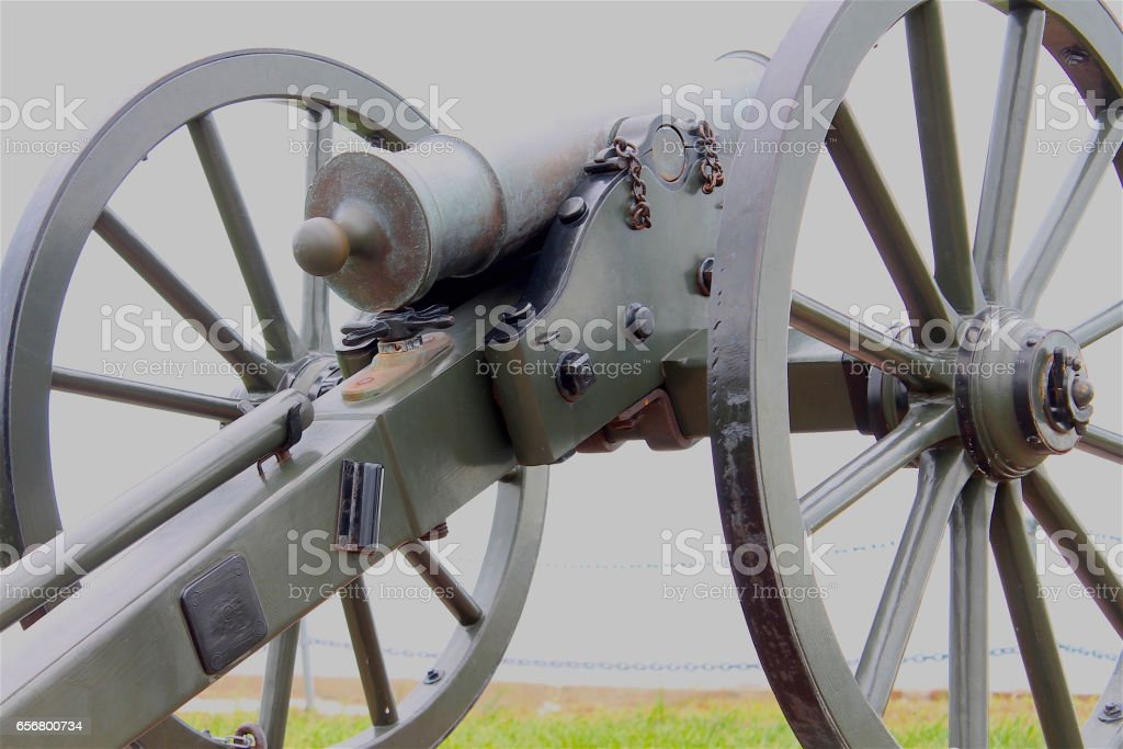 Cannons at Ft. Sumter stock photo