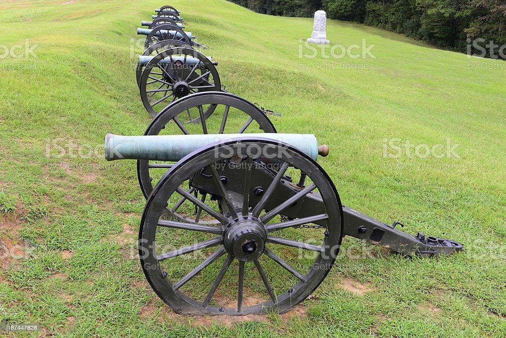Cannons at Vicksburg National Military Park stock photo