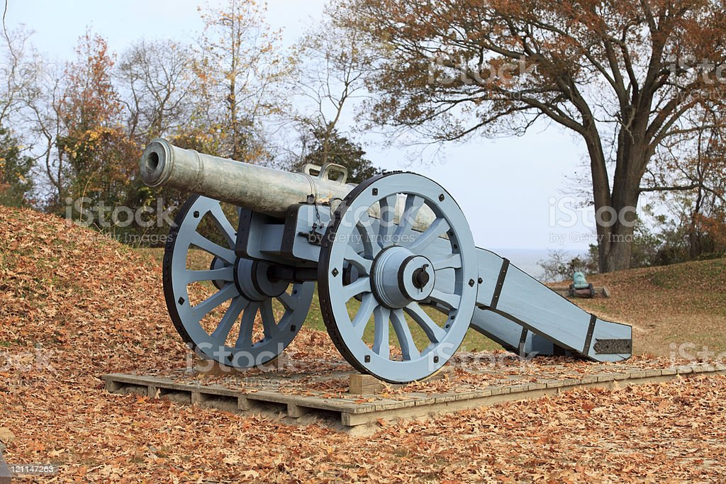 Cannons at Yorktown, Virginia royalty-free stock photo