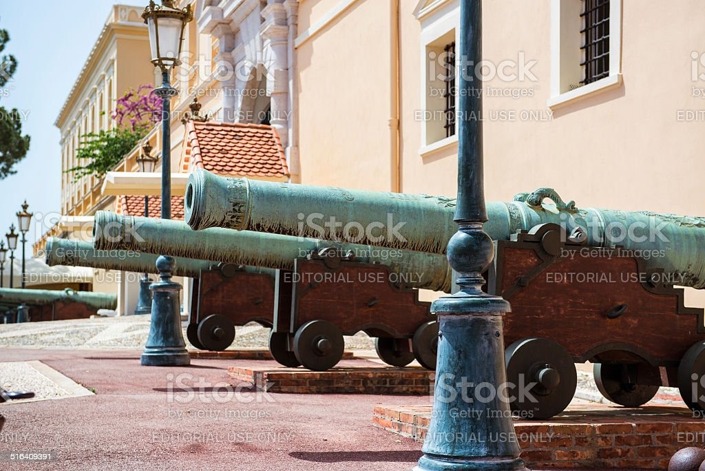 Cannons close-up stock photo