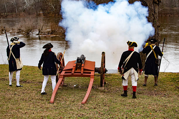 cannons holzofen für allgemeine washington - weihnachten de stock-fotos und bilder