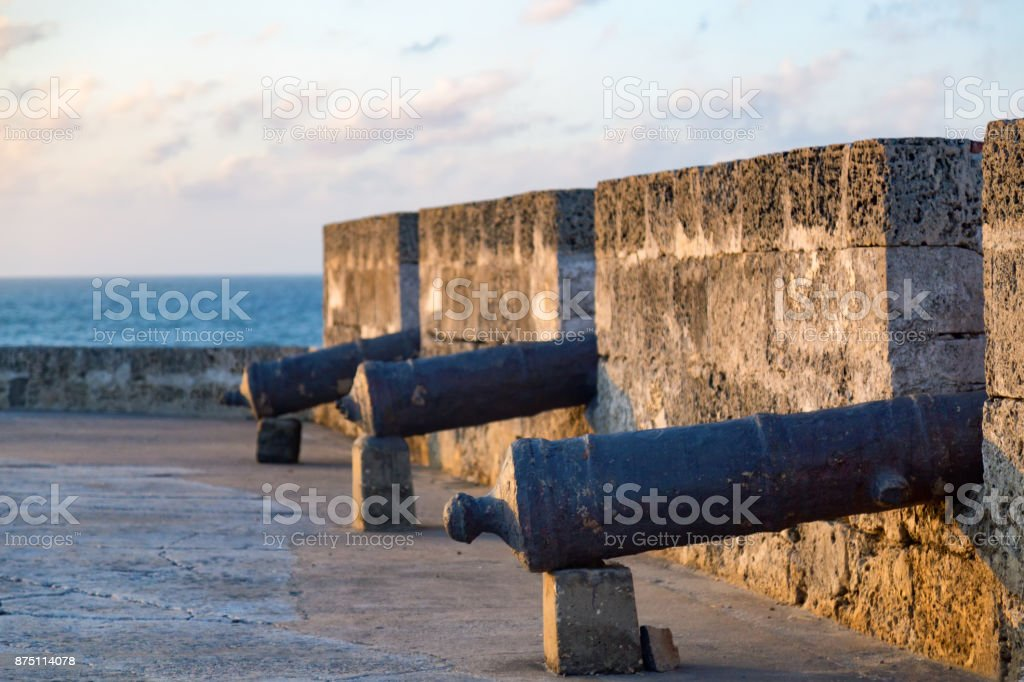 Cannons in the Afternoon stock photo