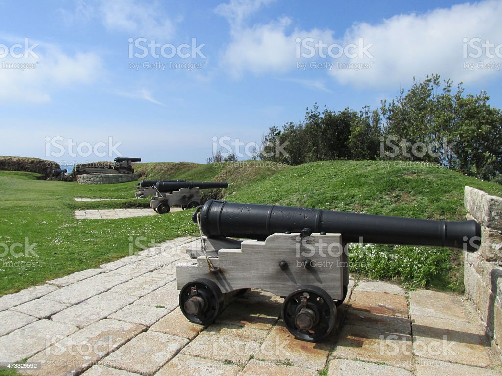 Cannons, Isle of Scilly stock photo
