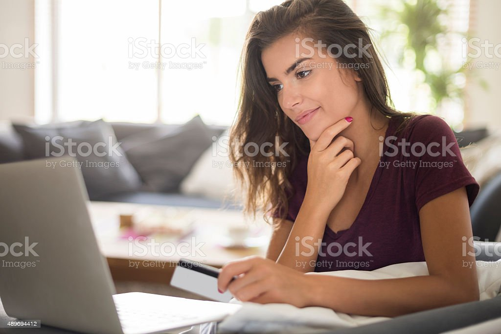 I cannot decide what to buy stock photo